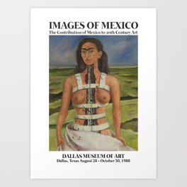 "Frida Kahlo Exhibition Art Poster - ""The Broken Column"" 1988 Art Print"