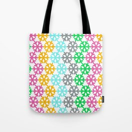 colourful snow pattern Tote Bag
