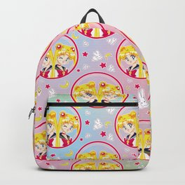 Usagi Tsukino VS Sailor Moon pattern Backpack