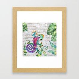 Tropical Gecko Framed Art Print