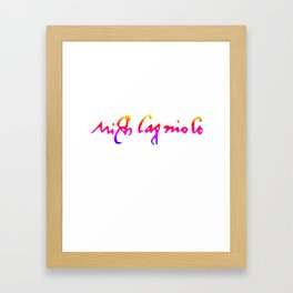 Michelangelo's pride signature Framed Art Print