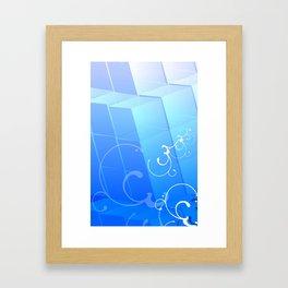Kubik Ice Framed Art Print