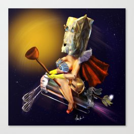The  Unknown Super Wife Canvas Print