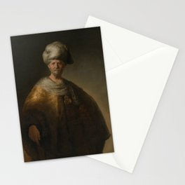 "Rembrandt Harmenszoon van Rijn, ""Man in oriental costume"", 1632 Stationery Cards"