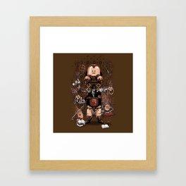 Iron gentleman Framed Art Print