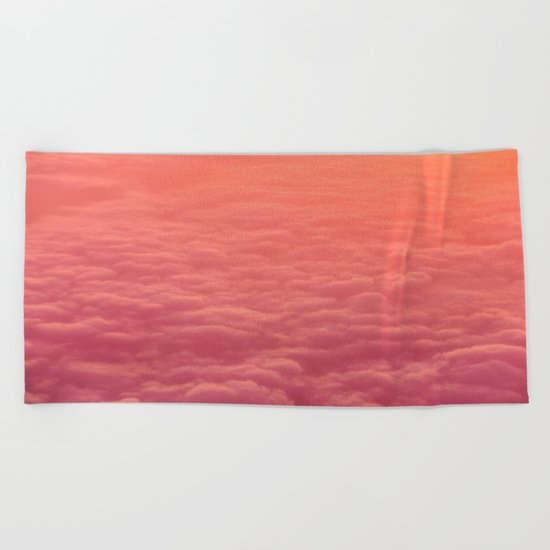 pink clouds Beach Towel