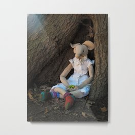 Miss Mouse under the Oak Tree Metal Print