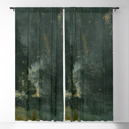 Nocturne In Black And Gold The Falling Rocket By James Mcneill Whistler | Reproduction Blackout Curtain