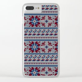 Pattern in Grandma Style #18 Clear iPhone Case