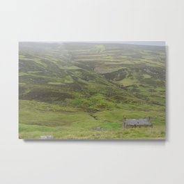 A Lone Bothy in the Highlands Metal Print
