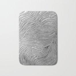 Chrome effect metallic texture Bath Mat