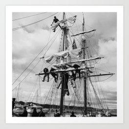 Furling the Sails Art Print