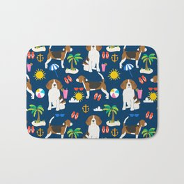 Beagle beach vacation dog breed lover beagles must haves summer gifts Bath Mat