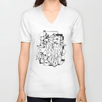 solid V-neck T-shirts featuring Solid Ground by 5wingerone