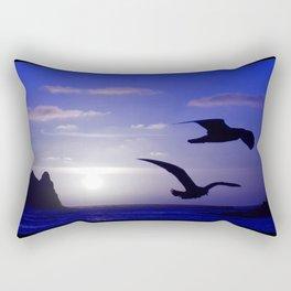 the double bird blues Rectangular Pillow