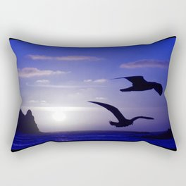 the double bird blues Rectangular Pillow