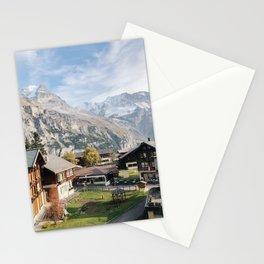 Mountain Top Murren Afternoon, Lauterbrunnen Switzerland Stationery Cards