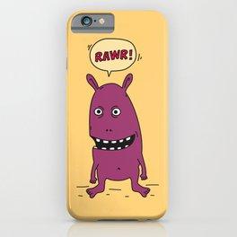Rawr! Monster! iPhone Case