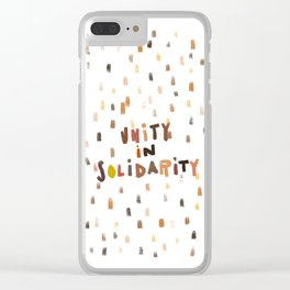Unity in Solidarity Clear iPhone Case