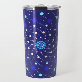 Blue Ray Star Mandala Travel Mug