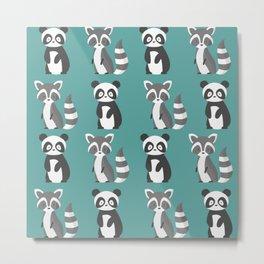 panda and raccoon Metal Print