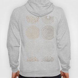 Simply Mod Circles in White Gold Sands on White Hoody