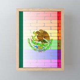 Gay Rainbow Wall Mexico Flag Framed Mini Art Print