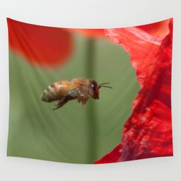 The Levitating Bee Wall Tapestry