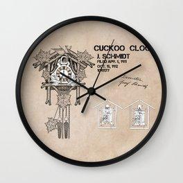 Cuckoo clock patent art Wall Clock