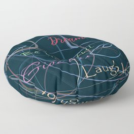 Positive charge Floor Pillow
