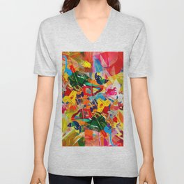 Kaleidoscope Plexi-glass Unisex V-Neck