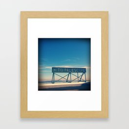 To The Observatory Framed Art Print