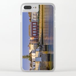 Tavira old town panoramic Clear iPhone Case