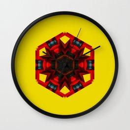 Abstract geometric Hexa Wall Clock