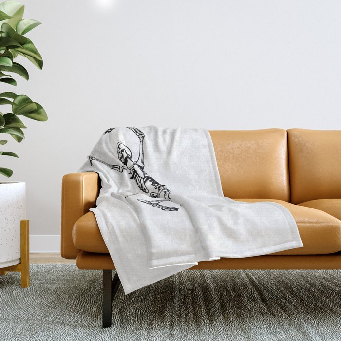 DANCING SKULL Throw Blanket