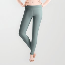Softened Jade Aqua Green Solid Color Pairs To PPG 2021 Trending Hue Holly Glen PPG1144-4 Leggings
