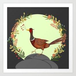 Autumn Forager Art Print