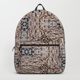 Textures in brown Backpack