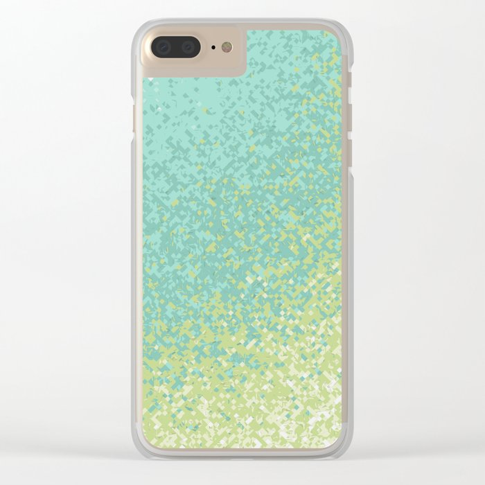 Abstract Green Blend Clear iPhone Case