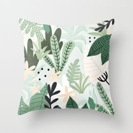 Into the jungle II Throw Pillow