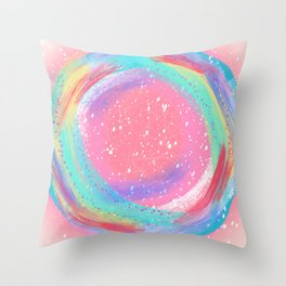 Candy Colored Circles Throw Pillow