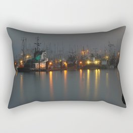 Foggy Harbour Rectangular Pillow