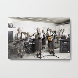 Rock Band Metal Print