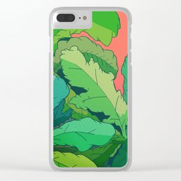 lettuce leaves Clear iPhone Case