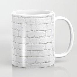 White Brick Wall Coffee Mug