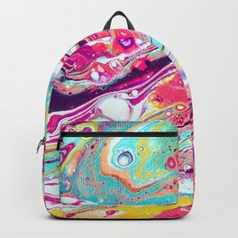 paint fluid art stains liquid colorful canvas Backpack