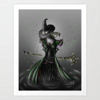 Stella the Dark Witch Art Print