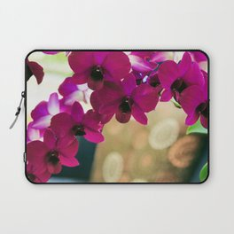 Pink Purple Magenta Orchids In Contemporary Vase Laptop Sleeve
