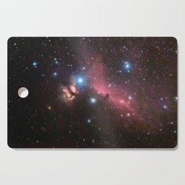 Horsehead and flaming tree nebula, in the constellation of Orion, Milky Way Cutting Board