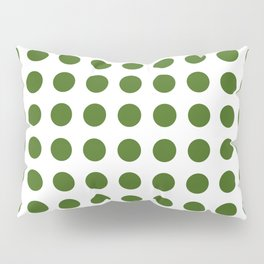 Simply Polka Dots in Jungle Green Pillow Sham